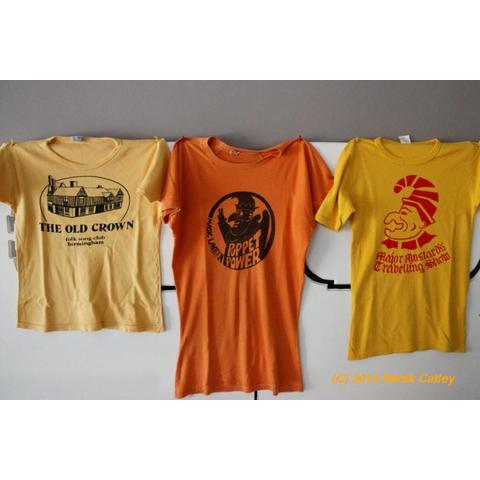 Club t-shirt display
