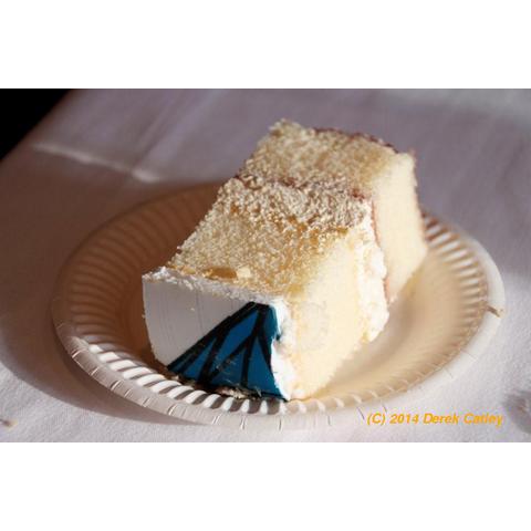 Commemorative cake - the last piece